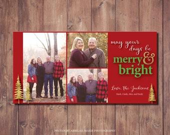 Photo Christmas Card, Modern Holiday Card, Photo Holiday Card Printable, DIY Christmas Card, Photo Credit: AMP