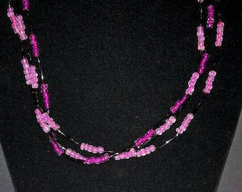 Triple-Strand Czech Glass Necklaces