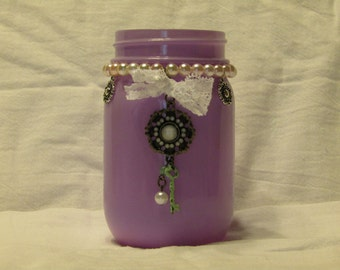 Purple Key and Pearl Jar