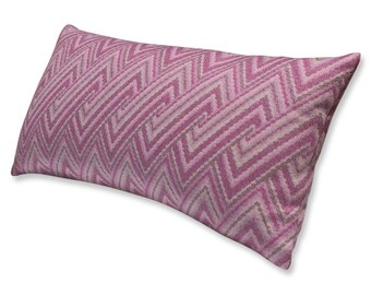 S. Harris Hot Pink Wool Bolster Pillow Cover