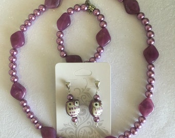 Purple owl set