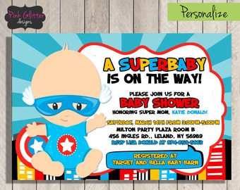 Superhero Baby Shower, Superhero Shower, Superbaby Shower, Superhero Baby Shower Invite, Superbaby Shower Invite, Superbaby, DIGITAL FILE