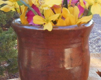 Cinnamon Speckled Vase