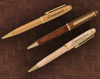 Personalized Pens - Rosewood, Bamboo, Maple - Any name or message