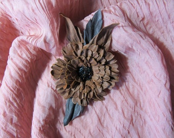 Hand-made brooch.