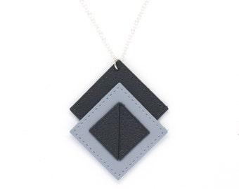 """Necklace """"Perfect"""" bi-color blue"""
