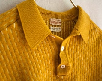1950's Saks Fifth Avenue Unique Ribbed Wool Sweater