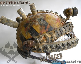 Post Apocalyptic Helmet for LARP and Airsoft.