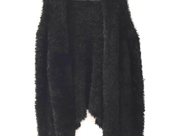 SALE!* 90's Fuzzy Black Cardigan