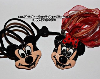 Collana in Fimo 'Mickey Mouse & Minnie'