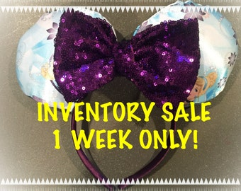 INVENTORY SALE!Cinderella Inspired! Handmade Sewn & Stuffed Mickey or Minnie Mouse Ears Headband. Fits Child to Adult.
