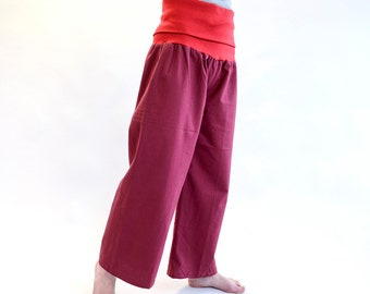 Schlupfhose, cotton, broad Federal red, Sweathose