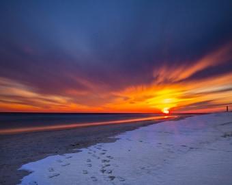 Long Island Sunset - Colorful Landscape Photo Print (3 options)
