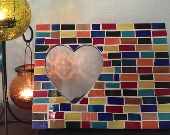 Multi-Colored Mosaic Frame