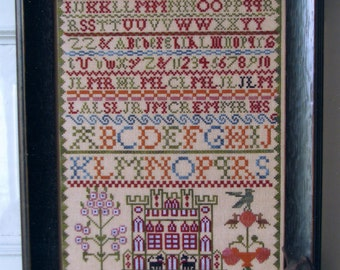 Ann Lockart 1842 Reproduction Sampler by Black Branch Needlework Counted Cross Stitch Pattern/Chart
