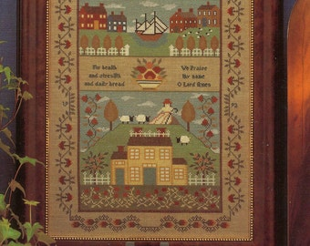 New England Schoolgirl Sampler by Theron Traditions Counted Cross Stitch Pattern/Chart