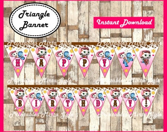 Sheriff Callie Banner, printable Sheriff Callie party Banner, Sheriff Callie's Wild West triangle Banner