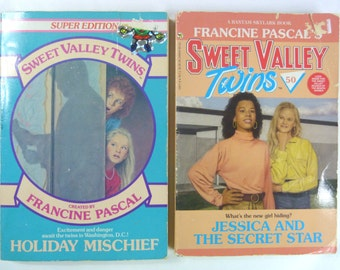 Sweet Valley Twins Lot 2: Holiday Mischief and Jessica and the Secret Star by Francine Pascal (Paperback, 1988)