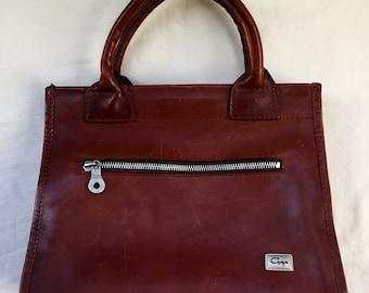 Vintage Gerpa Leather Satchel Handbag