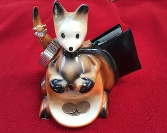 1956 McCoy Ceramic Boxing Kangaroo Mens Valet/Caddy-Pulp Fiction/Bruce Willis