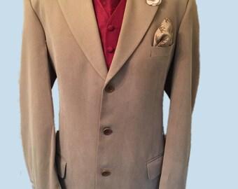 Marks and Spencer 44 Regular,Beige Pure Silk Sports Jacket, 3 Button Fastening