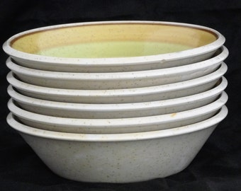 Imperial by W Dalton Stoneware Lemon N Lime P9302 Cereal Bowls Set of 6