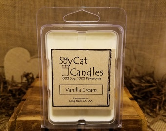 SoyCat Candles Wax Melt 2.5 oz Clean Cotton (Fresh linen scented/100% Soy Wax/Homemade/Rustic Style)