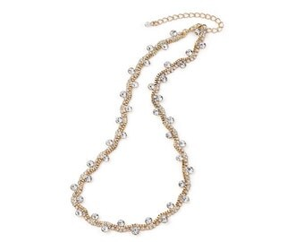 Stunning Diamante, Crystal & Gold Necklace NK4006j