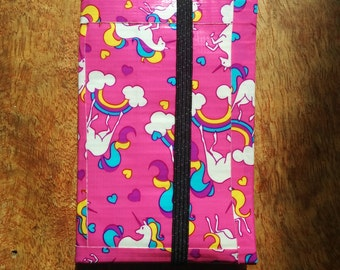 Pink Rainbows & Unicorns Vegan Duct Tape Wallet