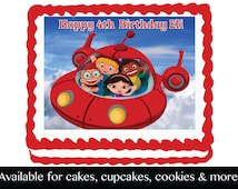 Little Einstein Rocket Edible Image Cake Cupcake or Cookie Topper Birthday Party Decoration Icing Frosting Sheet