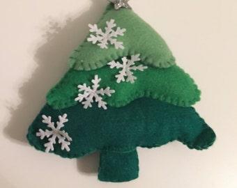Christmas Tree Felt Decoration