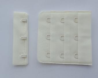 Ivory hook and eye 3x3 bra fasteners