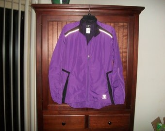 Womens Vintage 90s Insport Purple Windbreaker,Track Jacket, Fitness Jacket Size M