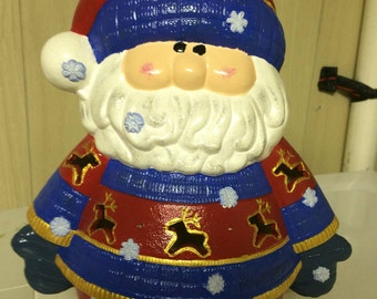 Small Santa ceramic figure