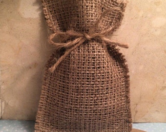 100 Hessian Favour Bags - Hessian Favor Bags For Rustic, Vintage, Country, Burlap Weddings
