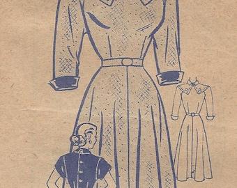 "1940s Vintage Sewing Pattern B36"" DRESS (R156) Marian Martin 9020"