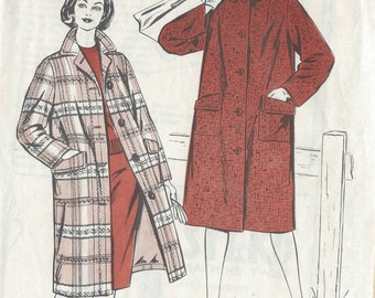 """1950s Vintage Sewing Pattern COAT B36"""" (R451) Style 1259"""