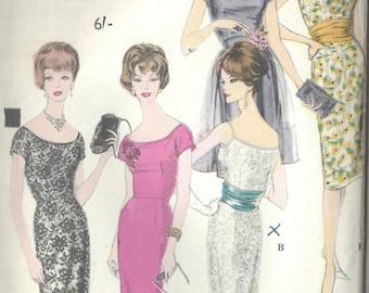 """1961 Vintage VOGUE Sewing Pattern B38"""" DRESS CUMMERBUND Apron (1593) Vogue 4108"""