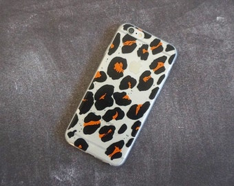 Leopard Print Design Soft Mobile Phone Case - for; iPhone 7