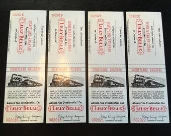 Disneyland Railroad Lilly Belle Presidential Car Ticket