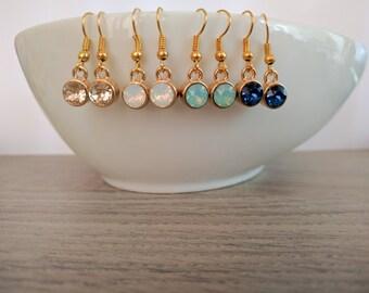 Earrings swarovski, earrings chrystal