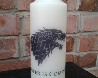 GAME OF THRONES Church Candle  - Winterfell 'Winter Is Coming' - House Stark