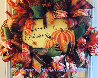 Autumn Blessing Wreath