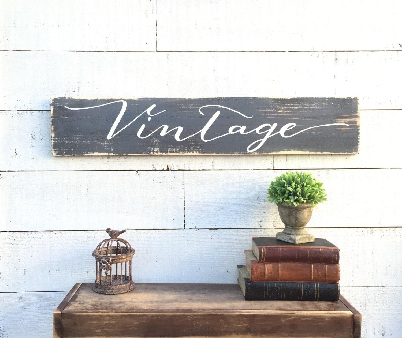 Vintage Wood Sign Home Decor