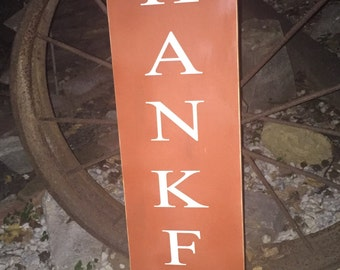 Thankful welcome sign
