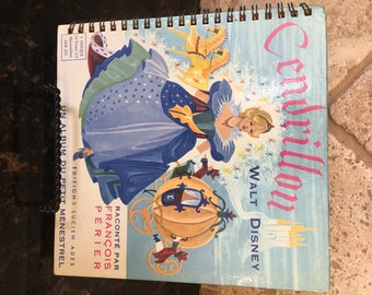 Walt Disney Cinderella in FRENCH CENDRILLON 1955 ~ French written Story book and French Music!!