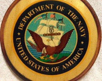 United States Navy Wooden Plaque