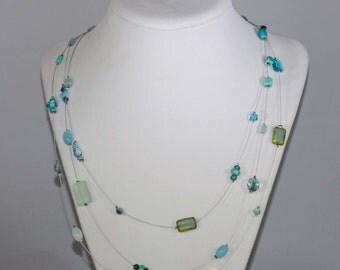 Illusion Floating Necklace (turquoise)