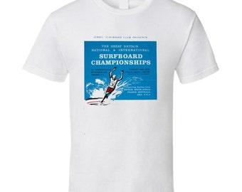 Vintage Surf Great Britain National Surfboard Championships 1965 Tsg T Shirt