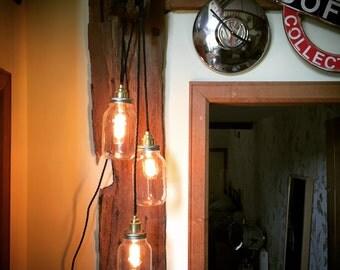 Kilner Three Jar Block Pendent Light